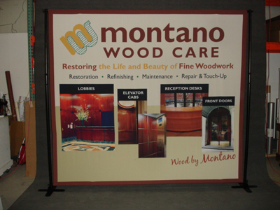 Pole Pocket Fabric Banner Stand