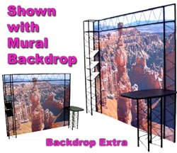 Trade Show Truss Display with Mural Backdrop.  Ten Foot Truss Display.